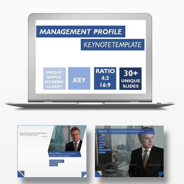 Management Profile Keynote Template