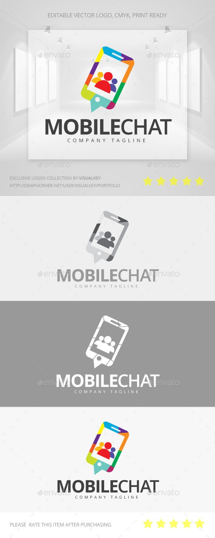 Mobile Chat Logo - Symbols Logo Templates