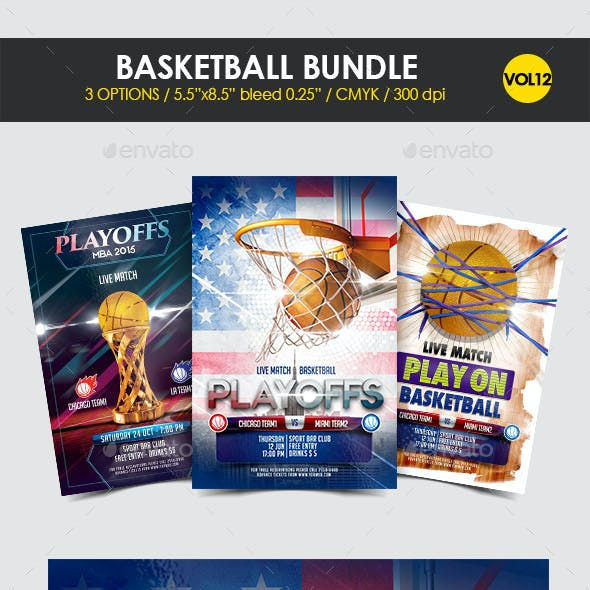 Basketball Flyer Bundle Vol. 12