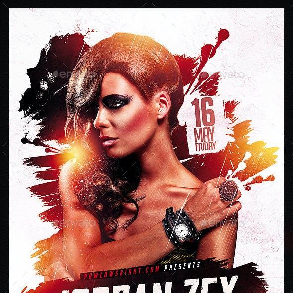 DJ Electro v5 Party Flyer PSD Template
