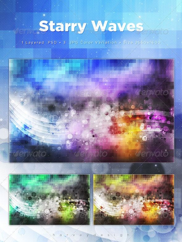 Starry Waves Web Backgrounds - Backgrounds Graphics