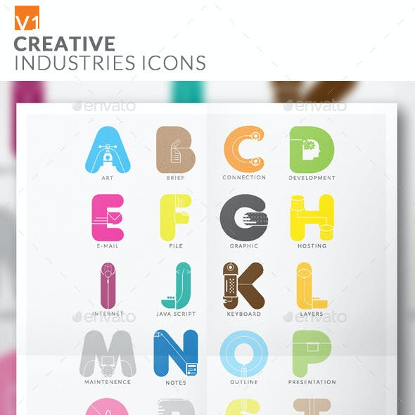 Alphabet Creative Industries Icons