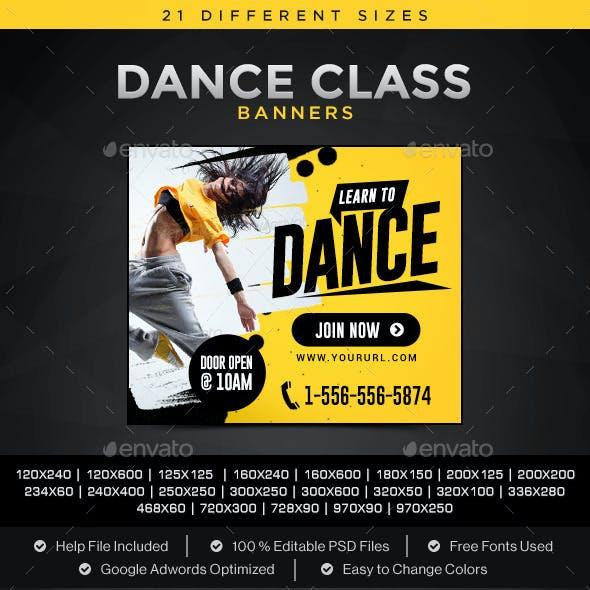 Dance Class Banners