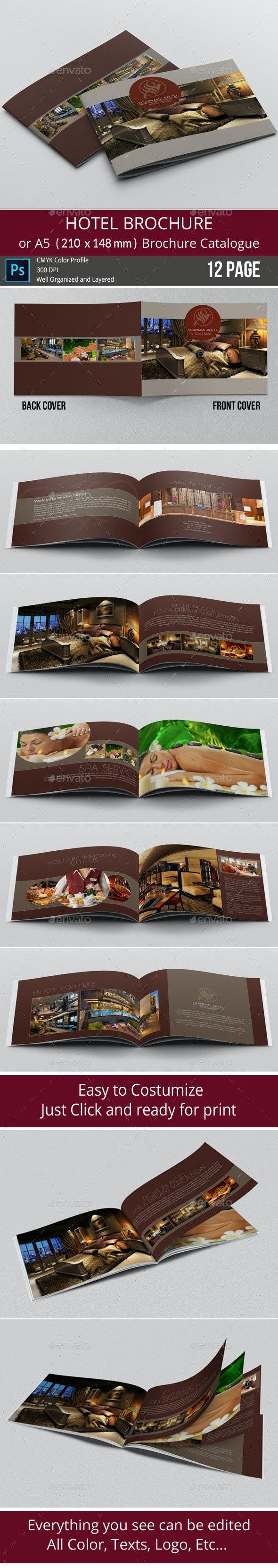 Hotel Brochure / Simple A5 Catalogue - Brochures Print Templates