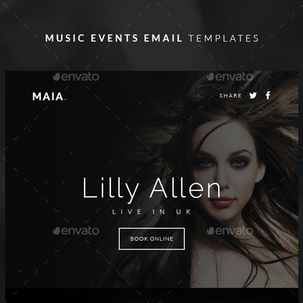 Music Events Email Templates - Maia