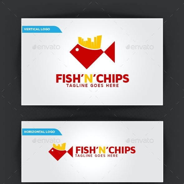 Fish'n'Chips Logo Template
