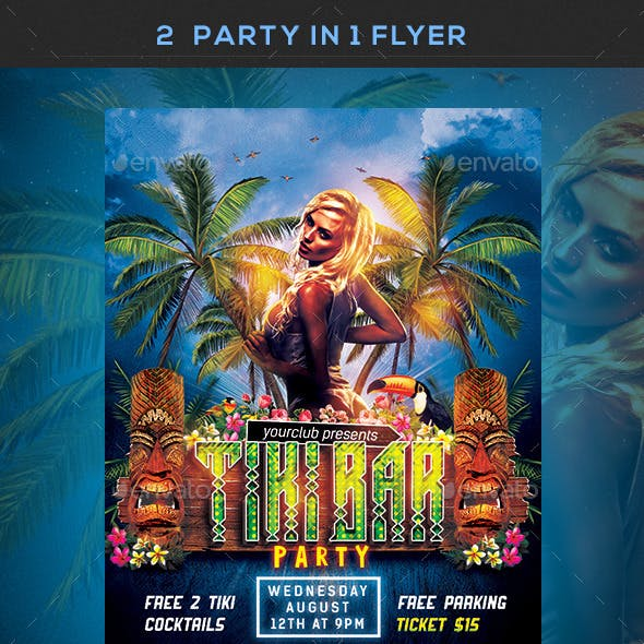 Hawaiian Party Flyers