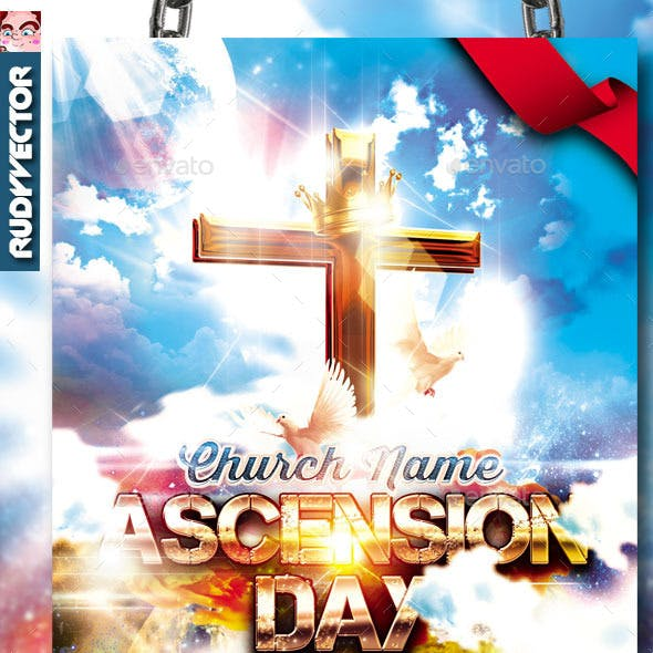 Ascension Day Church Service Flyer