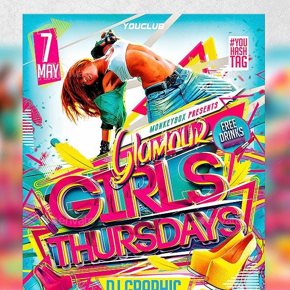Flyer Glamour Girls Thursdays Konnekt