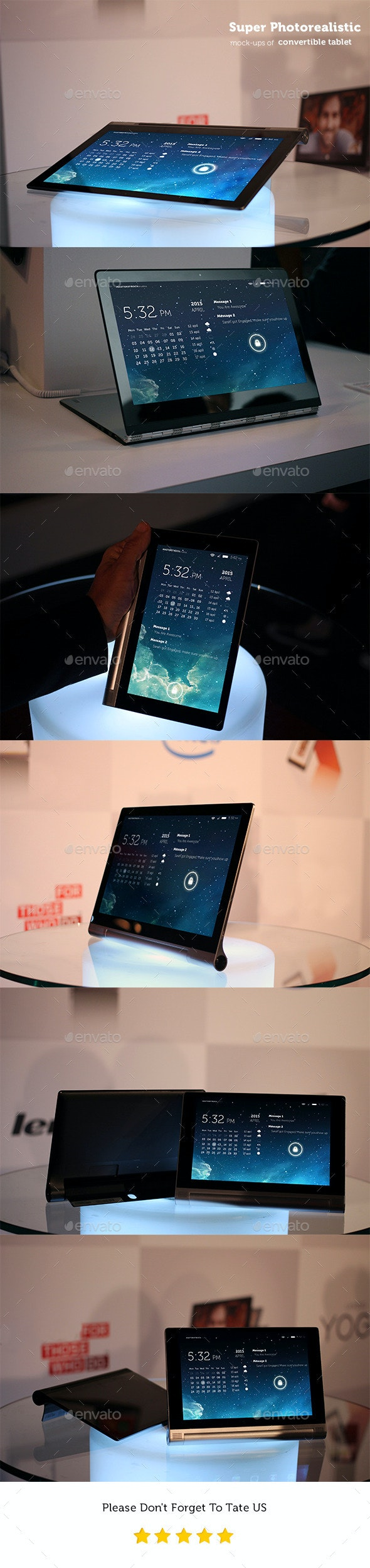 Photorealistic Pad-Tablet Mockups  - Mobile Displays