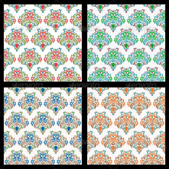 Vintage Seamless Wallpaper Backgrounds  - Decorative Vectors