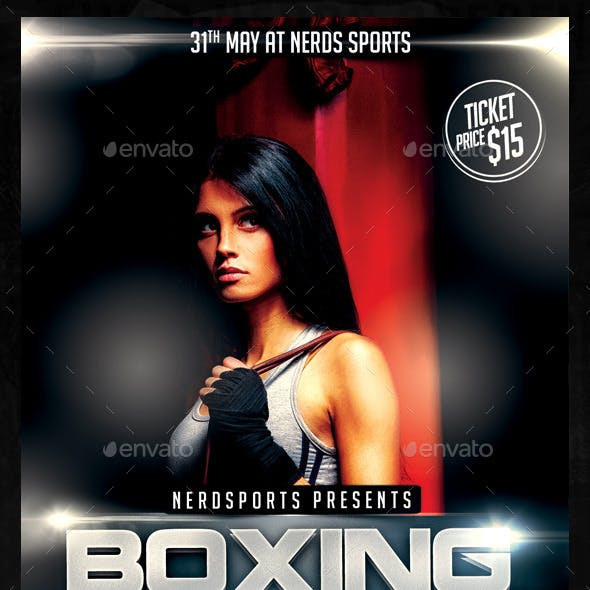Boxing Girls Sports Flyer