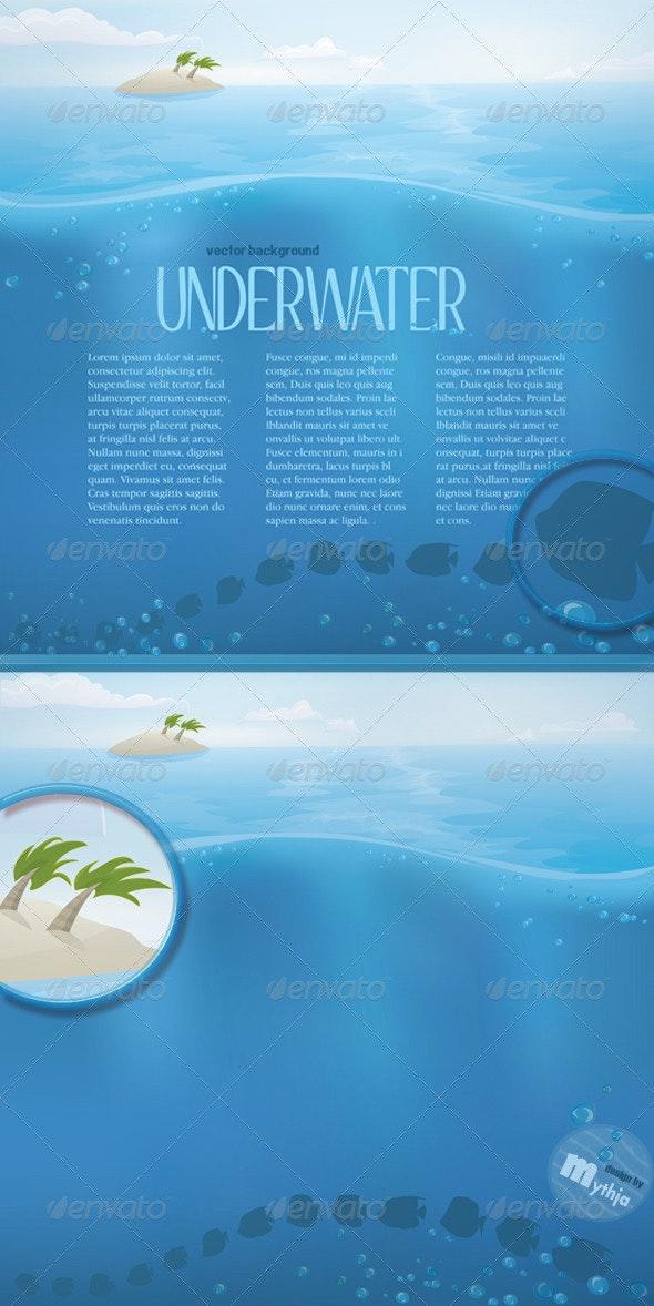 Vector Summer Landscape  - Landscapes Nature