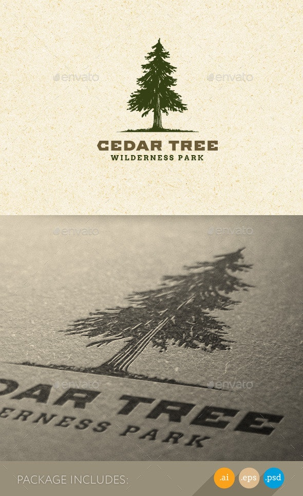 Cedar Tree Wilderness Park Nature Logo - Nature Logo Templates