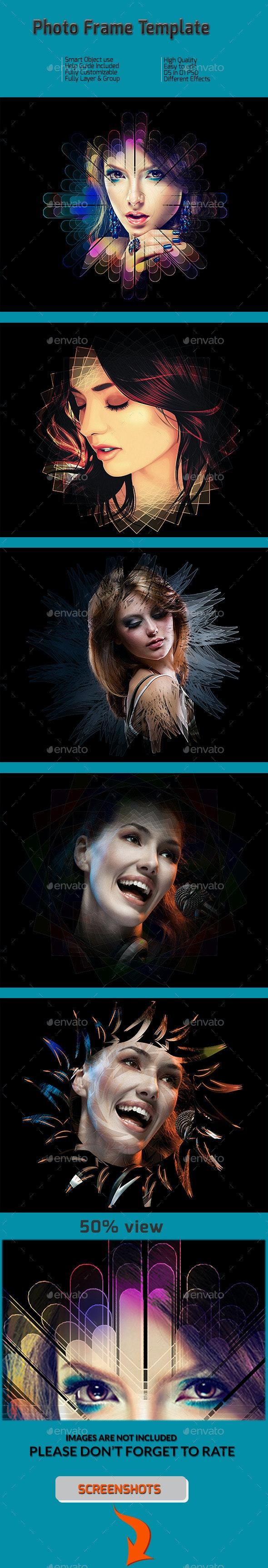 Photo Frame Template - Tech / Futuristic Photo Templates