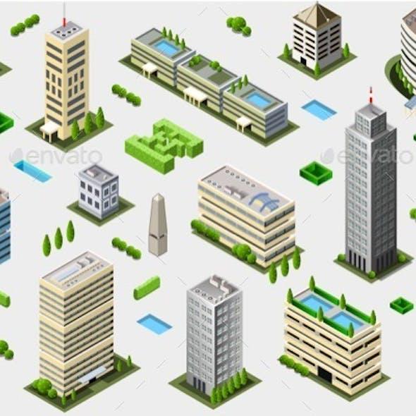 Isometric Megalopolis Building Set