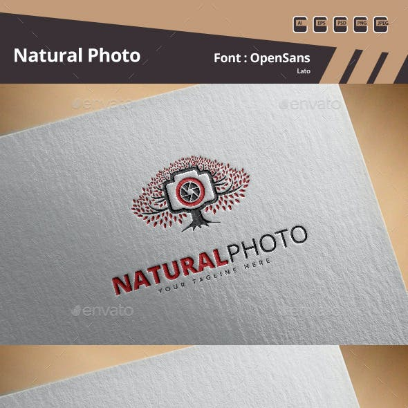 Natural Photo Logo Template