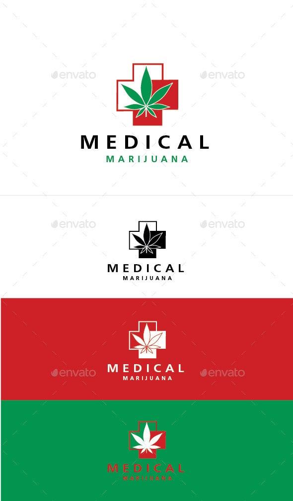 Medical Marijuana - Humans Logo Templates