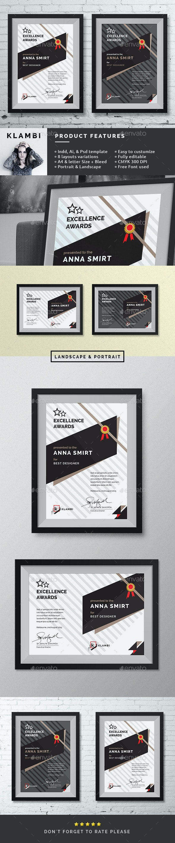 Fashion Awards Certificates - Certificates Stationery
