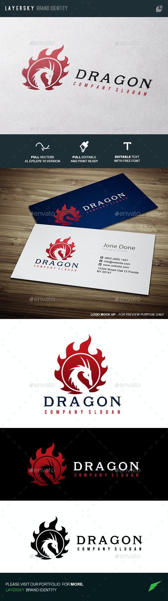 Dragon - Crests Logo Templates