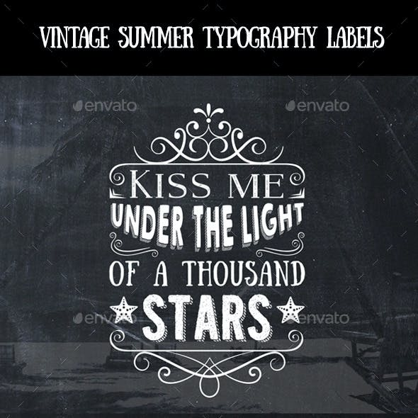 Vintage Summer Typography Labels