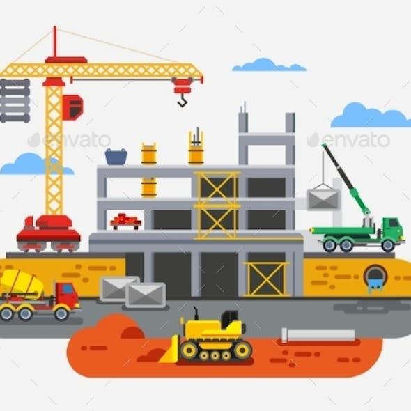 Building Construction Flat Design