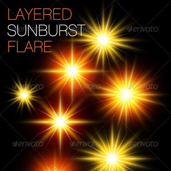 Layered Sunburst Flare