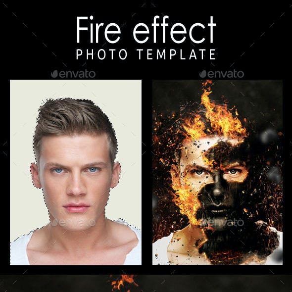 Fire Effect Photo Template