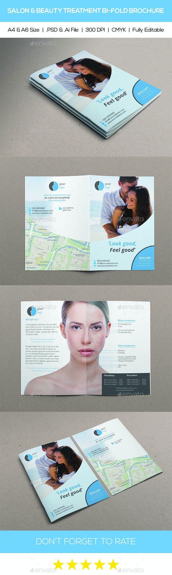 Salon & Beaty Treatment Bi-Fold Brochure - Catalogs Brochures