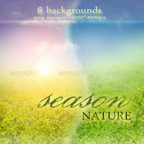 Nature Backgrounds with Spring or Summer Landscape