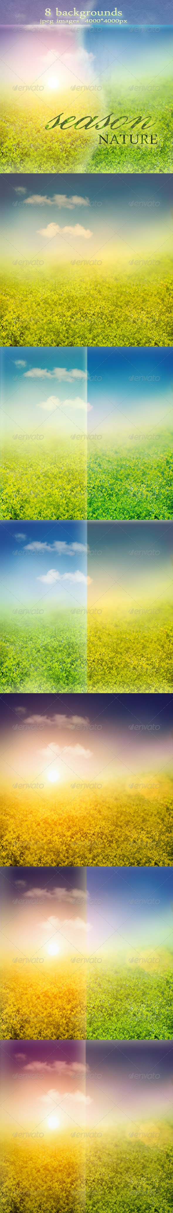 Nature Backgrounds with Spring or Summer Landscape - Nature Backgrounds