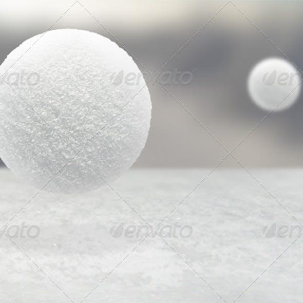 Realistic Snowball Mockup