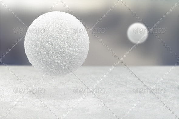 Realistic Snowball Mockup - Miscellaneous Graphics