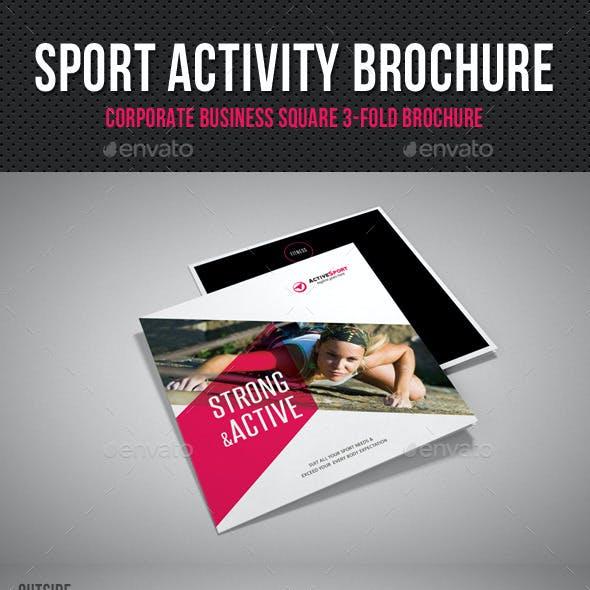 Sport Activity Square 3-Fold Brochure V01