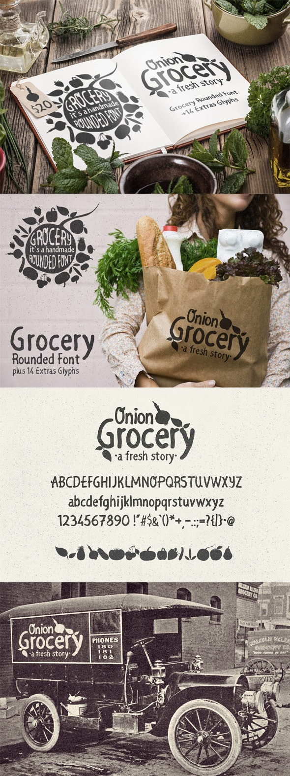 Grocery Rounded Font - Handwriting Fonts