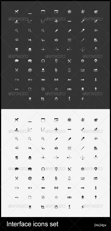 Interface icons set - Web Icons