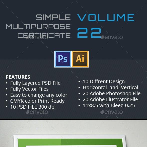 Simple Multipurpose Certificate GD022