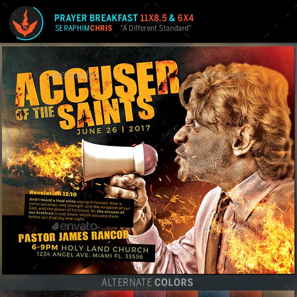 Accuser of the Saints Church Flyer Template