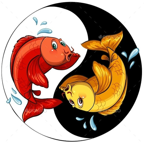 Template of Two Fishes