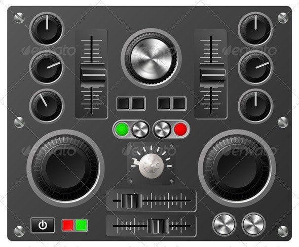 Sound board or studio controls - Technology Conceptual