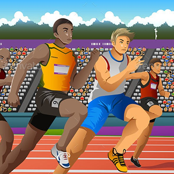 People Running in Competition