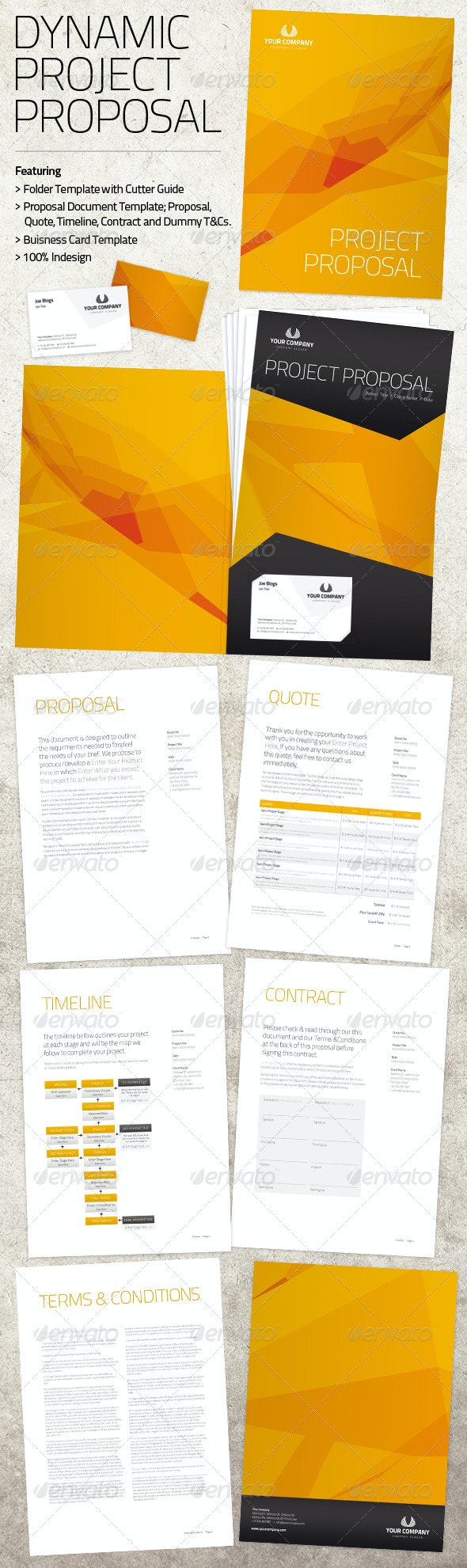 Dynamic Project Proposal Pack - Proposals & Invoices Stationery