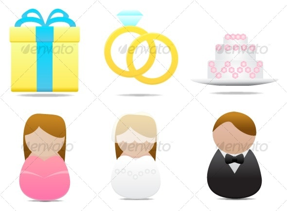 wedding icon set - Seasonal Icons