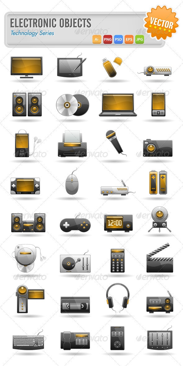 32 Electronic Objects - Technology Conceptual