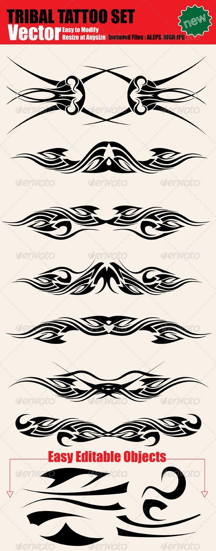 Vector Tattoo Set - Tattoos Vectors