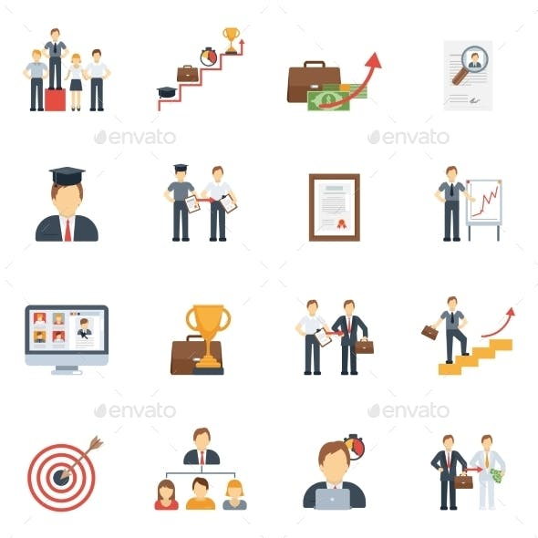 Career Icons Flat Set
