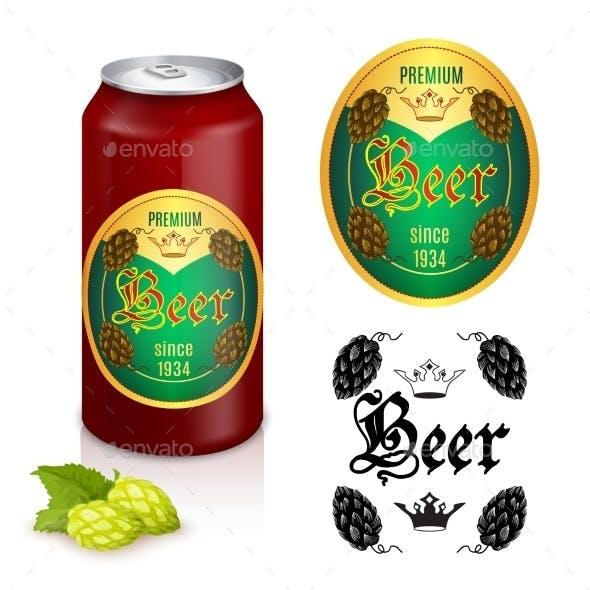 Premium Beer Label Design