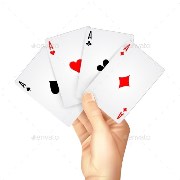 Regular Playing Cards Spread Holding Hand
