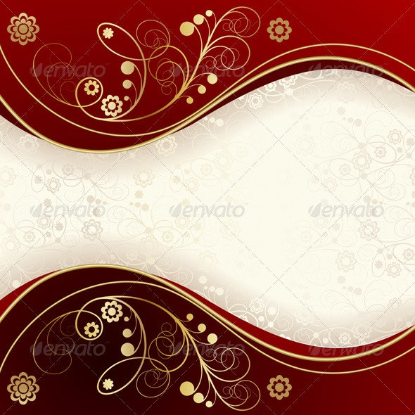 Red and Gold Background  - Backgrounds Decorative