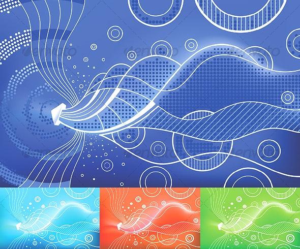 Digital Waves - Backgrounds Decorative